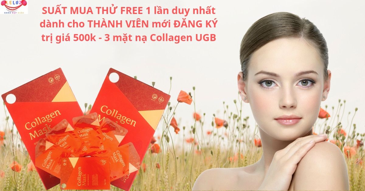 Suất Free 3 mặt Nạ UGB Collagen Mask